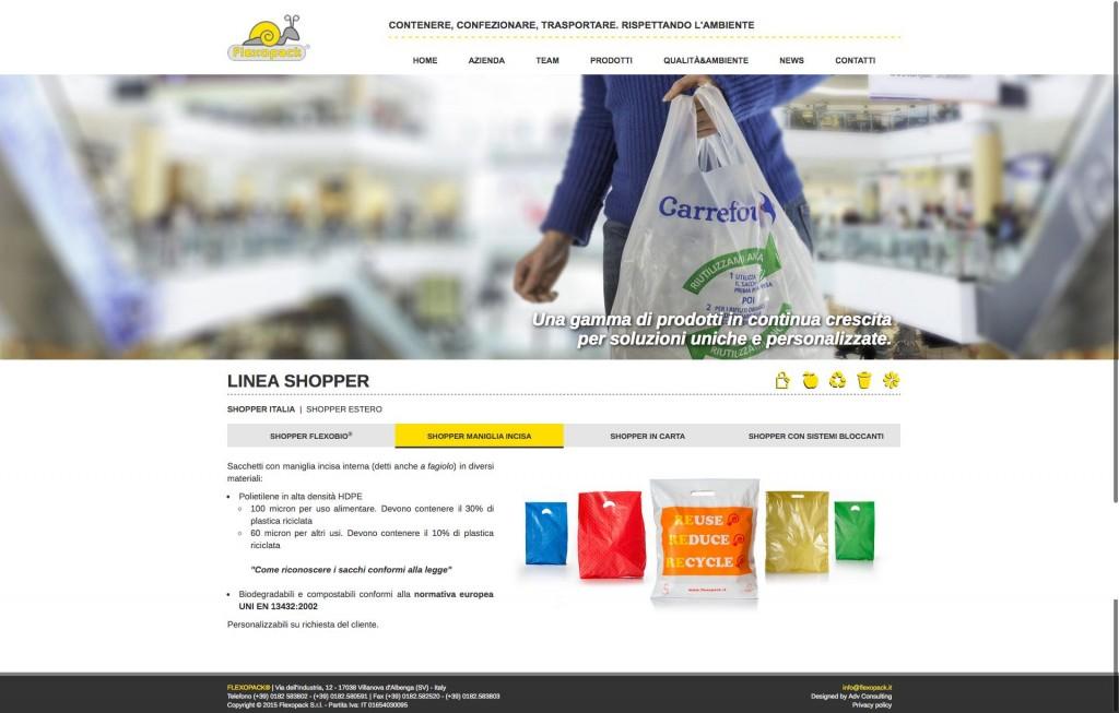 Flexopack - LINEA SHOPPER - SHOPPER MANIGLIA INCISA